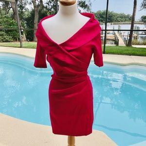 Joseph Ribkoff fuchsia pink cocktail dress